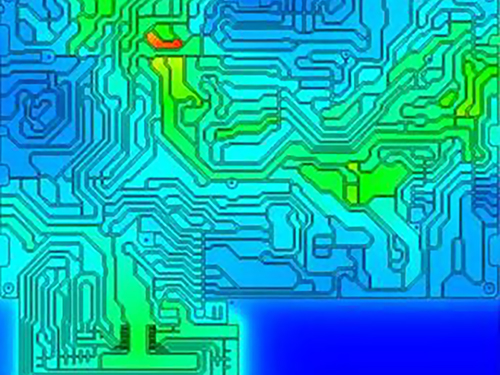 Prediction of thermal and electrical field in printed circuit boards